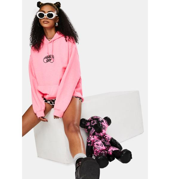 MOODSWINGS Pink Pissed Graphic Hoodie