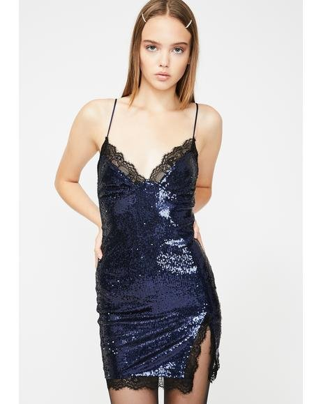 Midnight Sequin Romini Mini Dress
