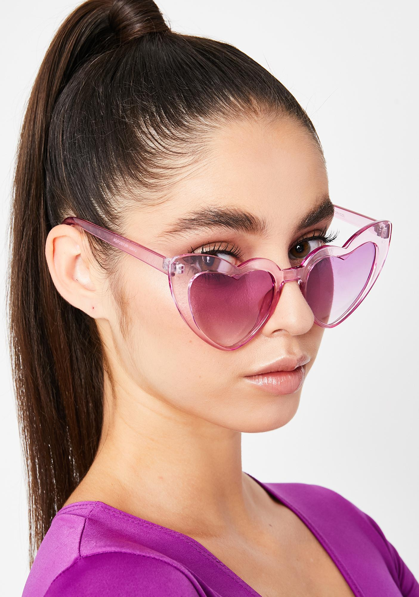 Grape Un-break Ur Heart Sunglasses