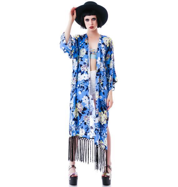 Beauty Rose No Pain Fringe Kimono