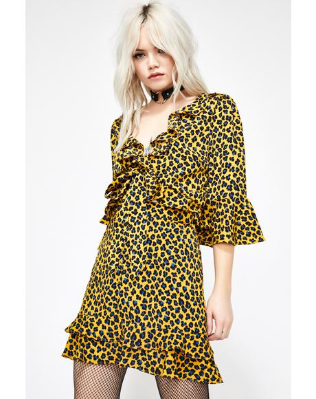 Cute N' Catty Leopard Blouse