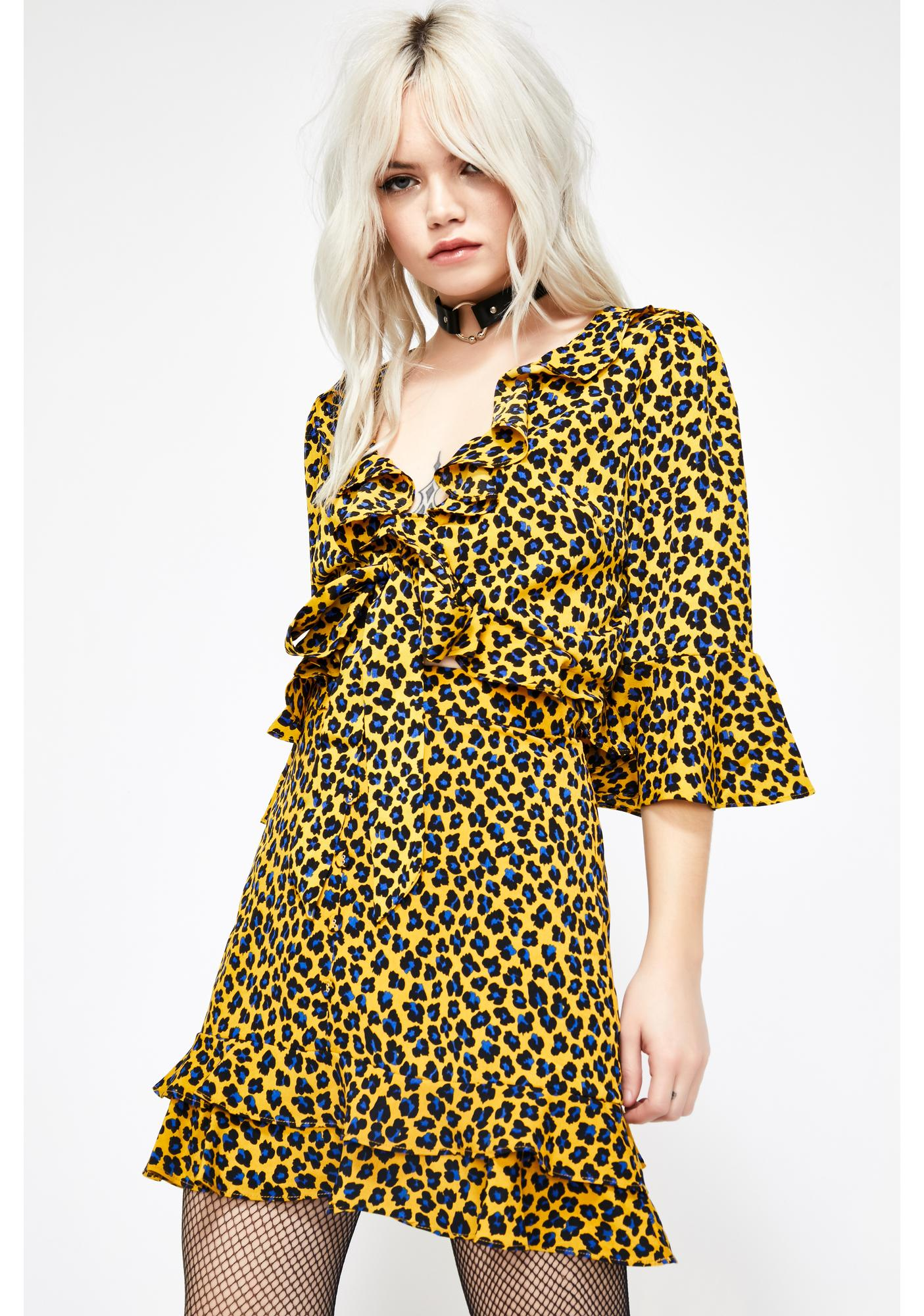 Cute N' Catty Leopard Blouse