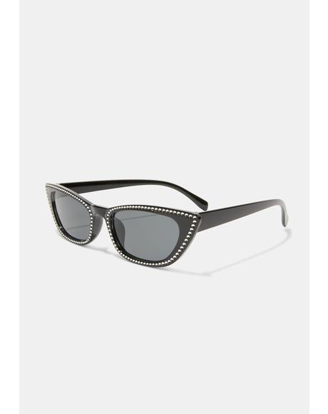 Freeze Frame Cat Eye Sunglasses