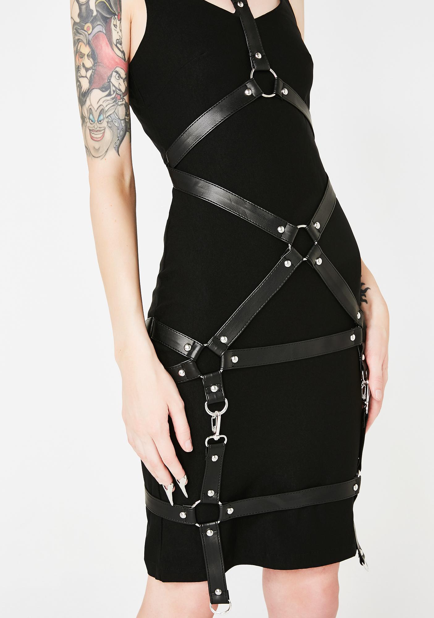 Killstar Locked Away Midi Dress