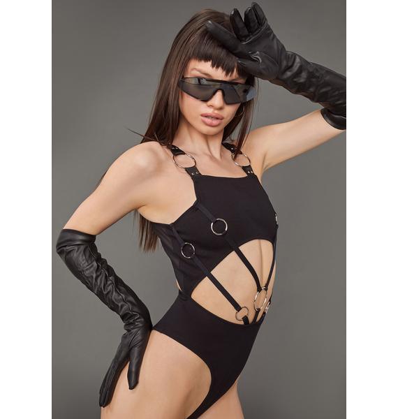 Poster Grl Keep On Wishing O-Ring Bodysuit