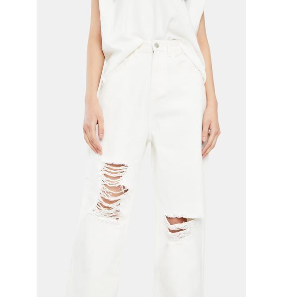 THE KRIPT White TK Ace Jeans