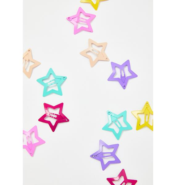 Cosmic Euphoria Star Hair Clips