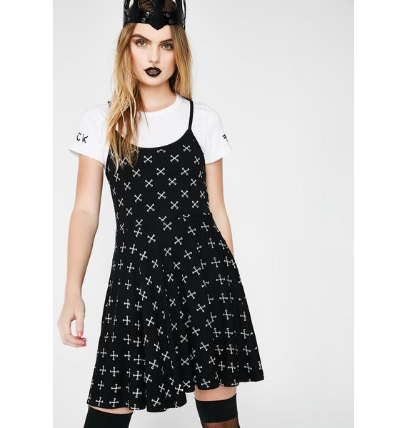 Fearless Illustration Hazy Eyes 2 In 1 Dress