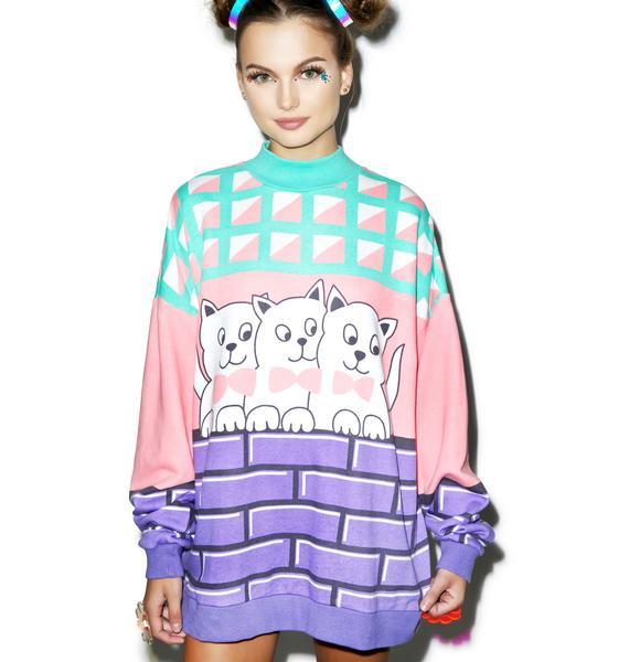 Lazy Oaf Kitty Cat Sweatshirt