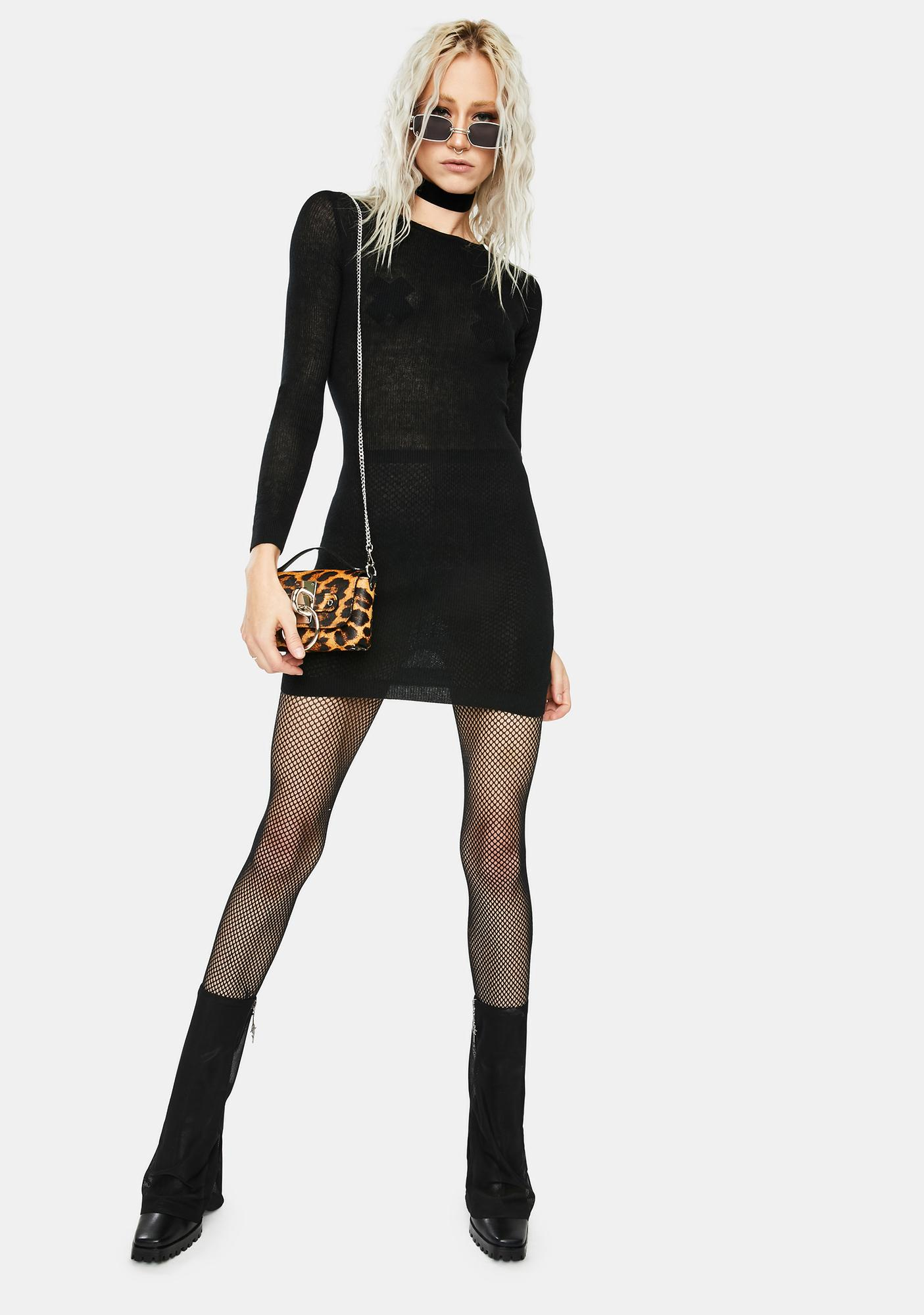 SNDYS. THE LABEL Black Dharma Knit Dress