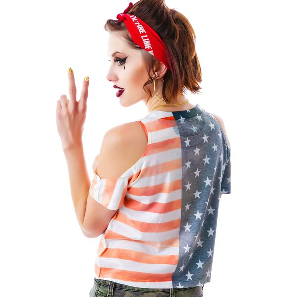 Americana Off The Shoulder Tee