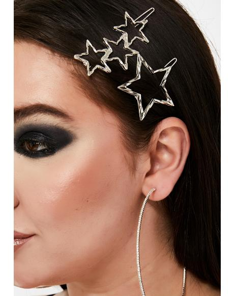Cosmic Bliss Star Hair Clips