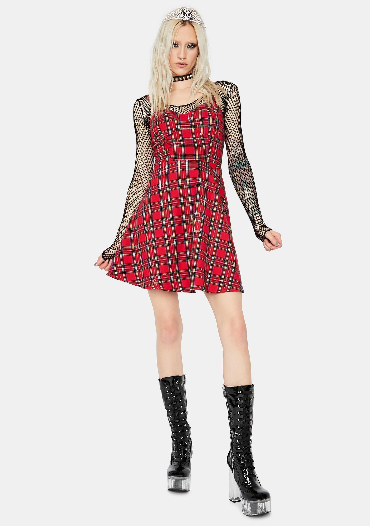 Livelong Plaid Mini Dress