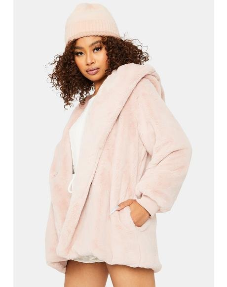 Sweet Don't Let Me Go Faux Fur Jacket