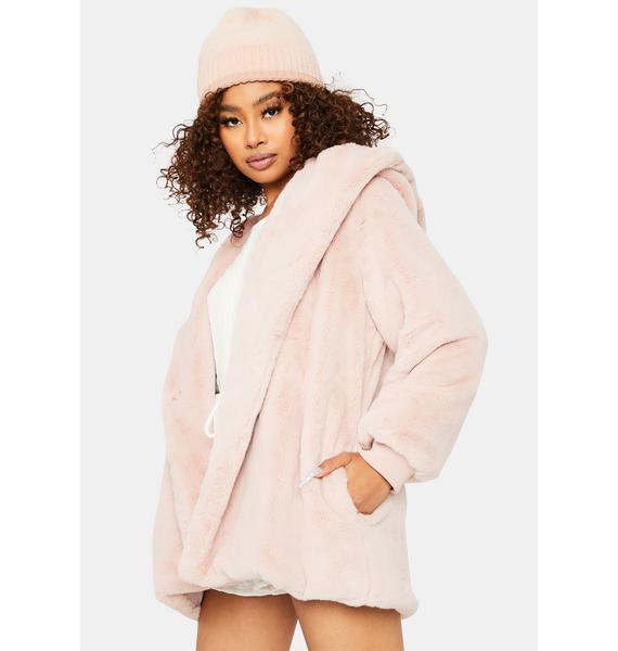 Sweet Don't Let Me Go Faux Fur Jacket