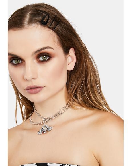 Sleeping Bat Chain Choker