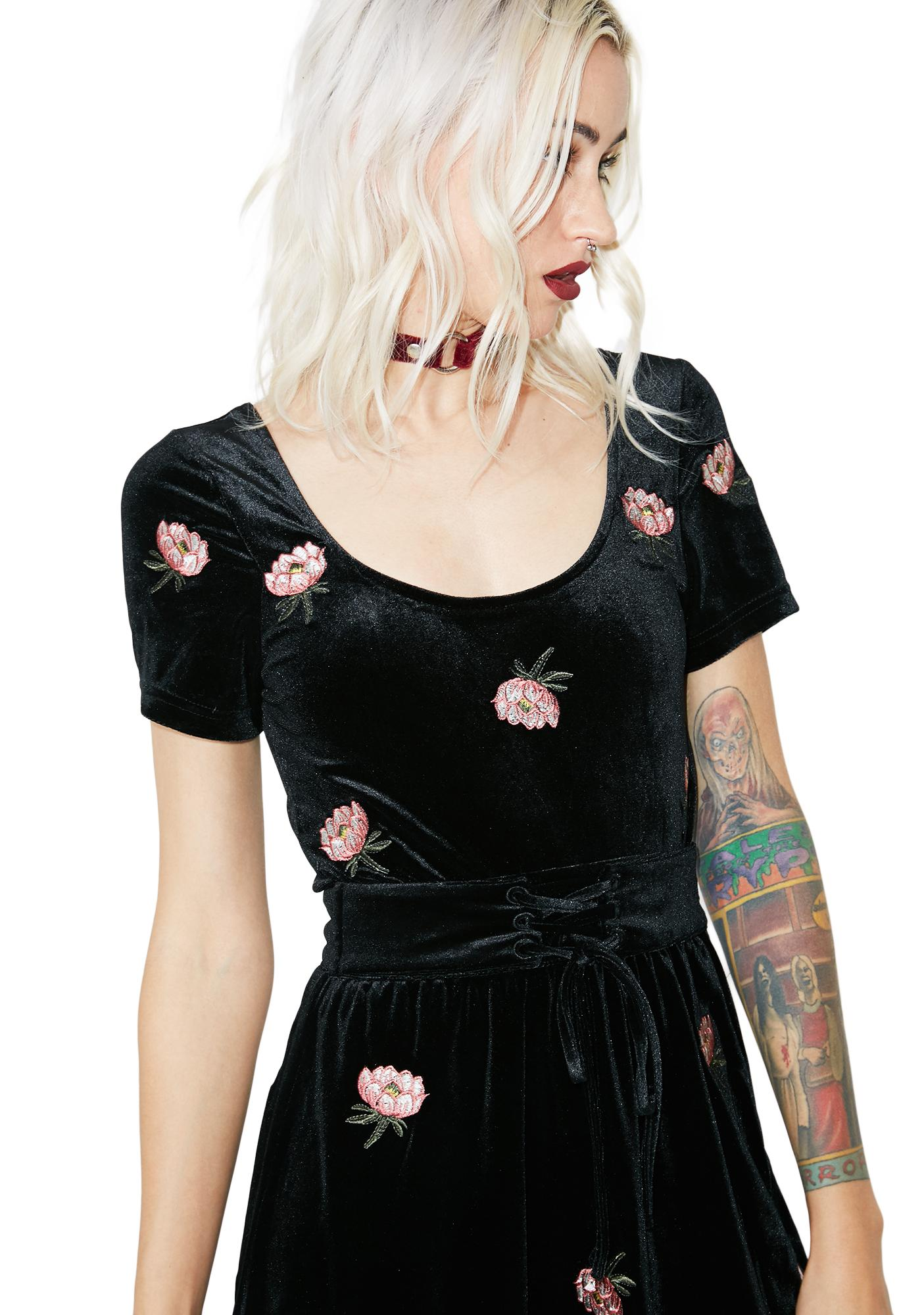In My Feelings Velvet Floral Dress
