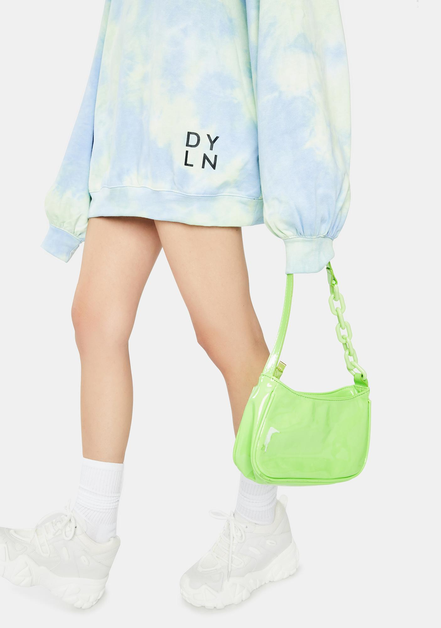 BY DYLN Blue Xander Sweatshirt