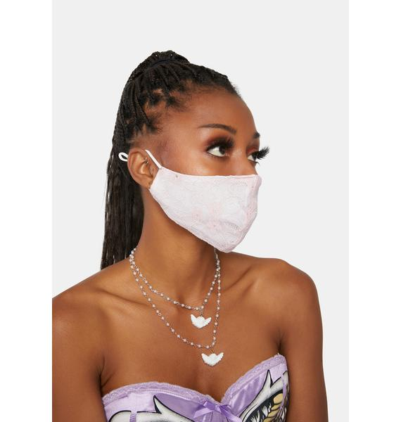 Blush Refined Taste Lace Face Mask