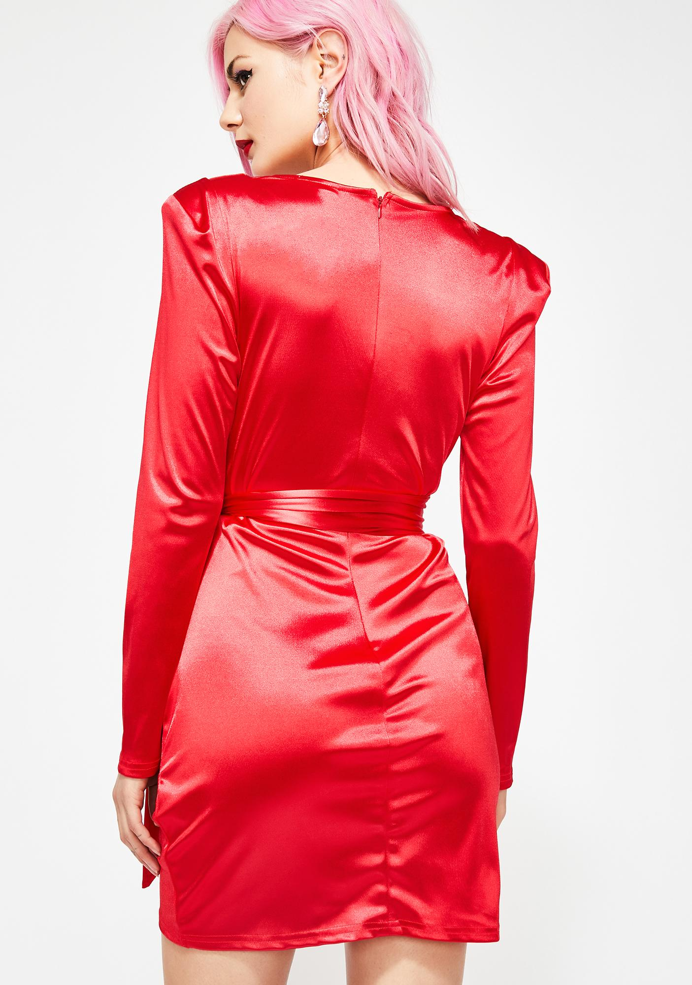 Cherry Exclusively Yours Satin Dress