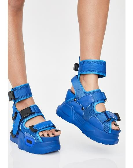 Wavy Daily Hustle Platform Sandals