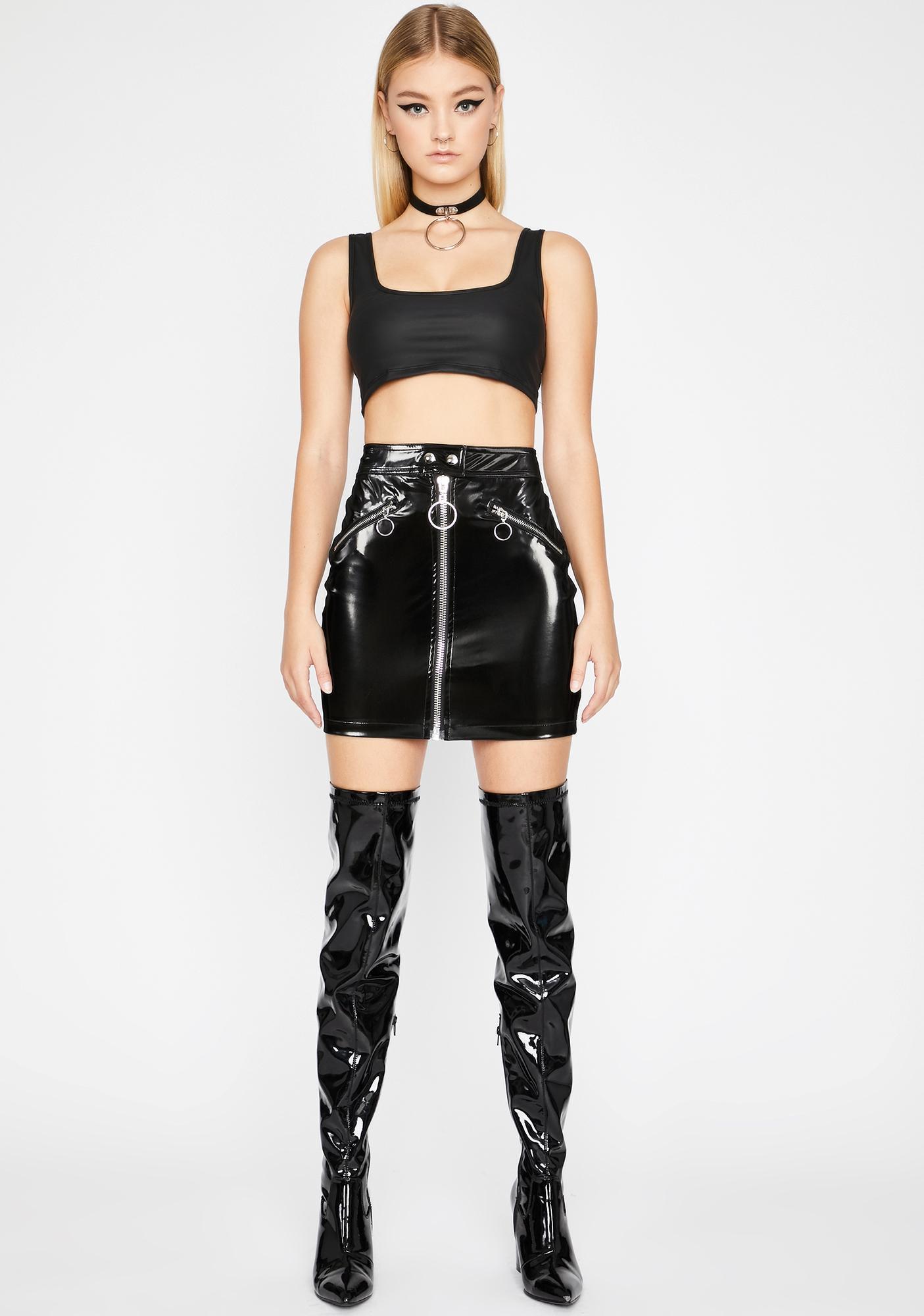 Matrix Dominatrix Vinyl Skirt