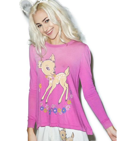 Wildfox Couture Vintage Deer Princess Tee