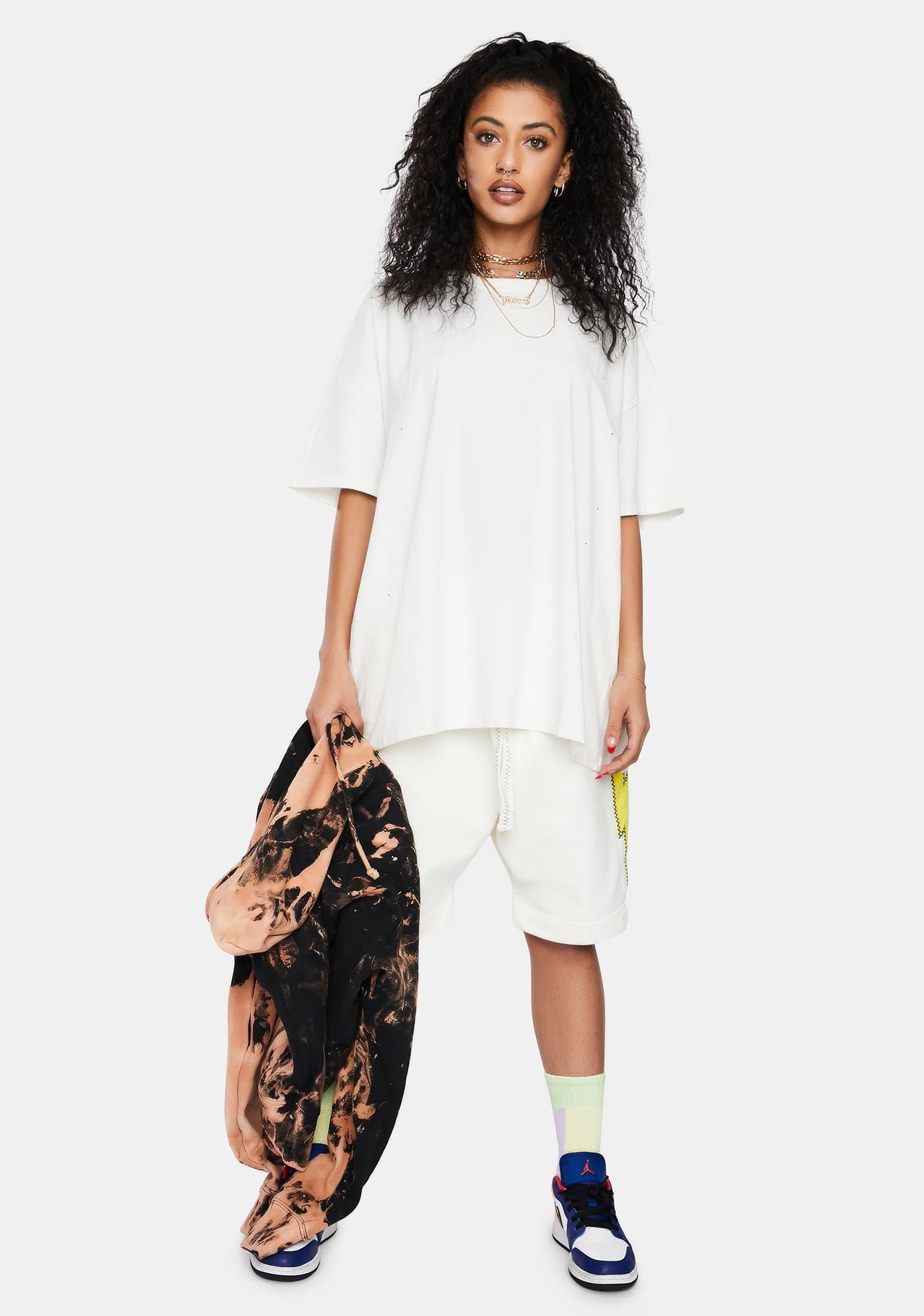 Crush Is Love Distressed Oversized Tee