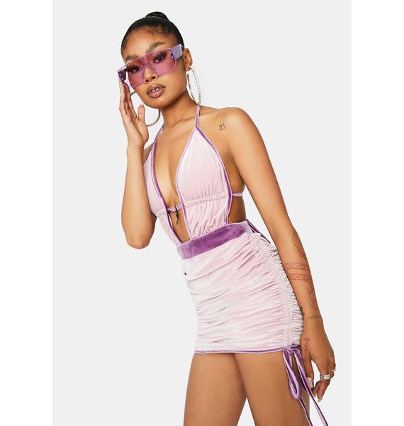 Certified Princess Velvet Mini Dress