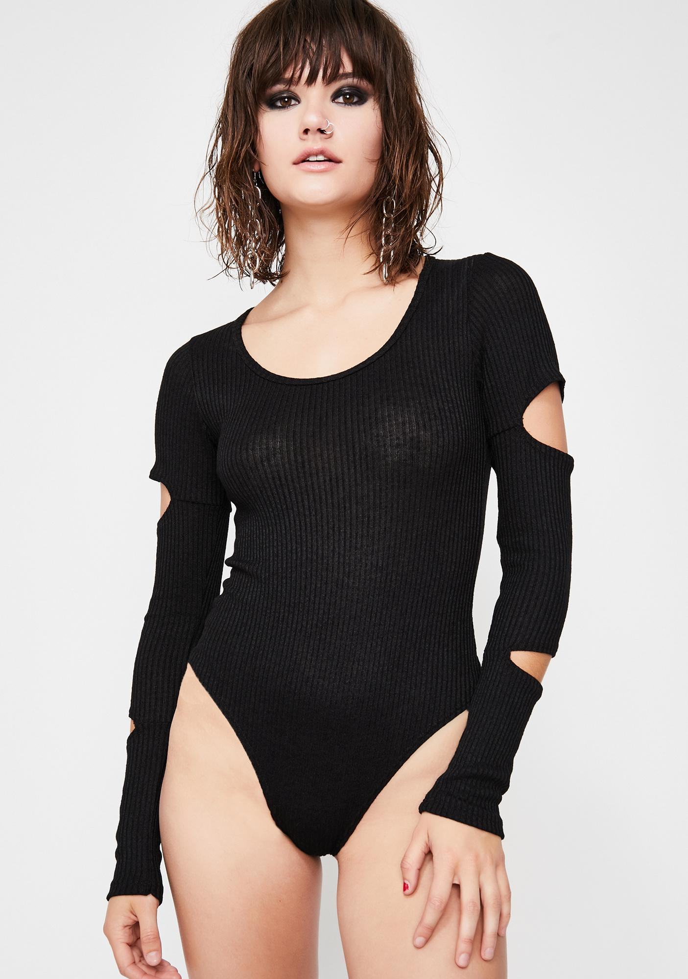 Disruptive Dilemma Cutout Bodysuit