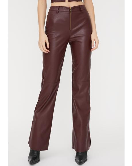 Romy Vegan Leather Pants