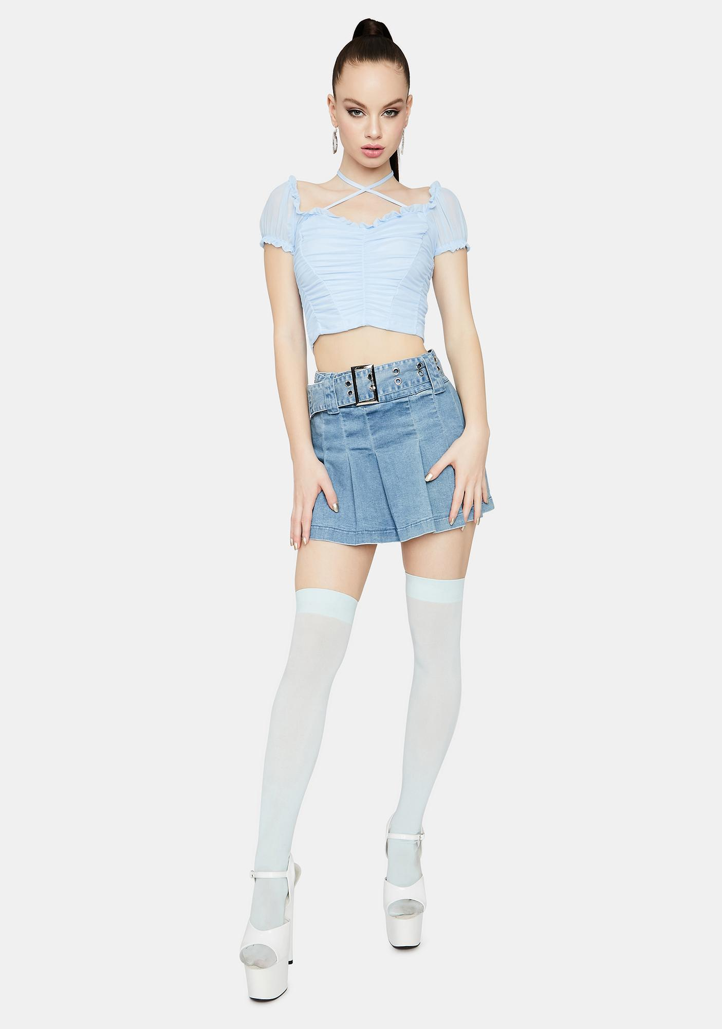 Anyways Call Me Ruched Halter Crop Top