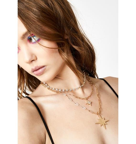 The Stars Align Layered Necklace