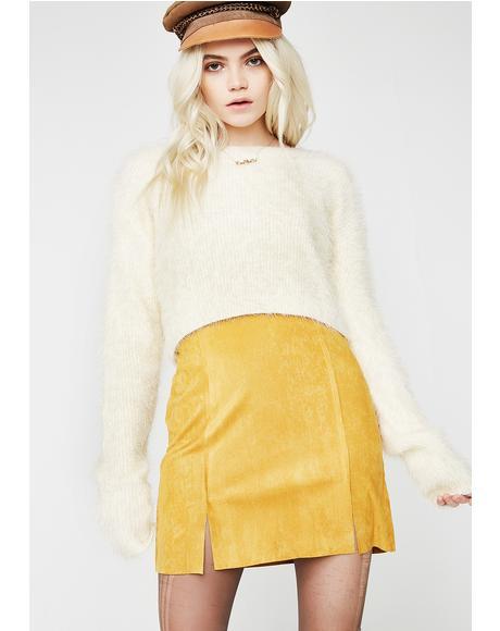Funkytown Suede Skirt