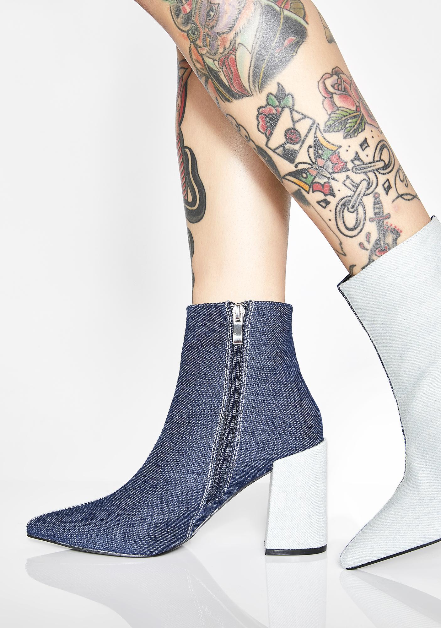 Denim Go Both Ways Ankle Boots