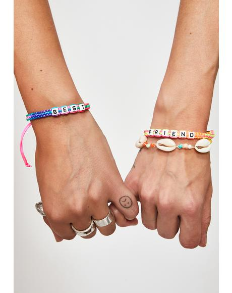 My New BFF Beaded Bracelets