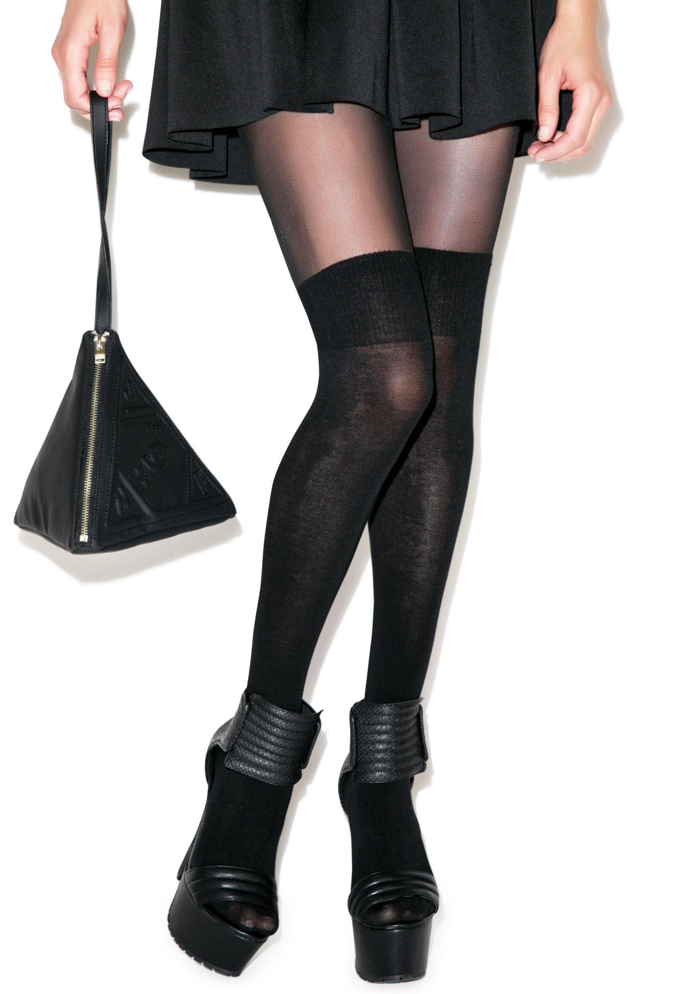 Pretty Polly Secret Socks Over The Knee Sock Tights