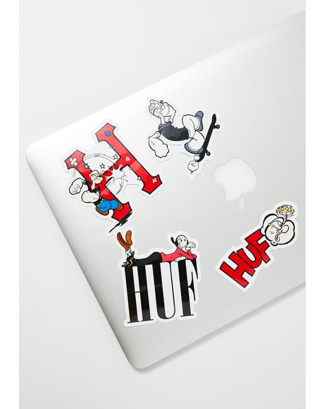 Popeye Sticker Set