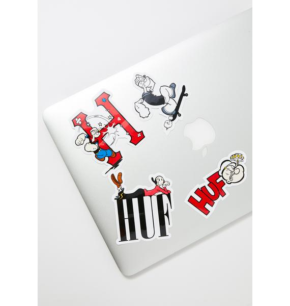 HUF Popeye Sticker Set