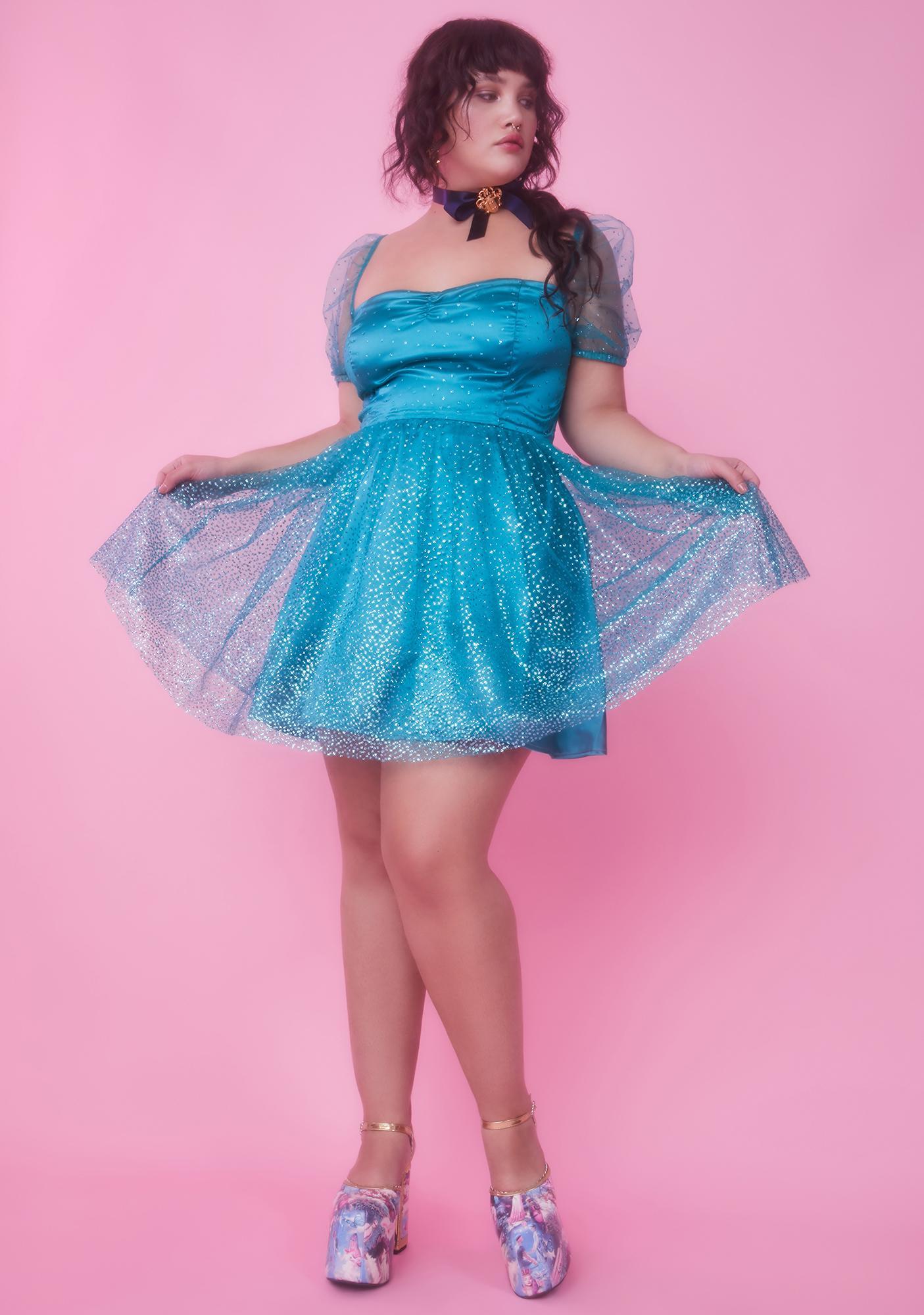 Sugar Thrillz My Diamonds Are Forever Babydoll Dress