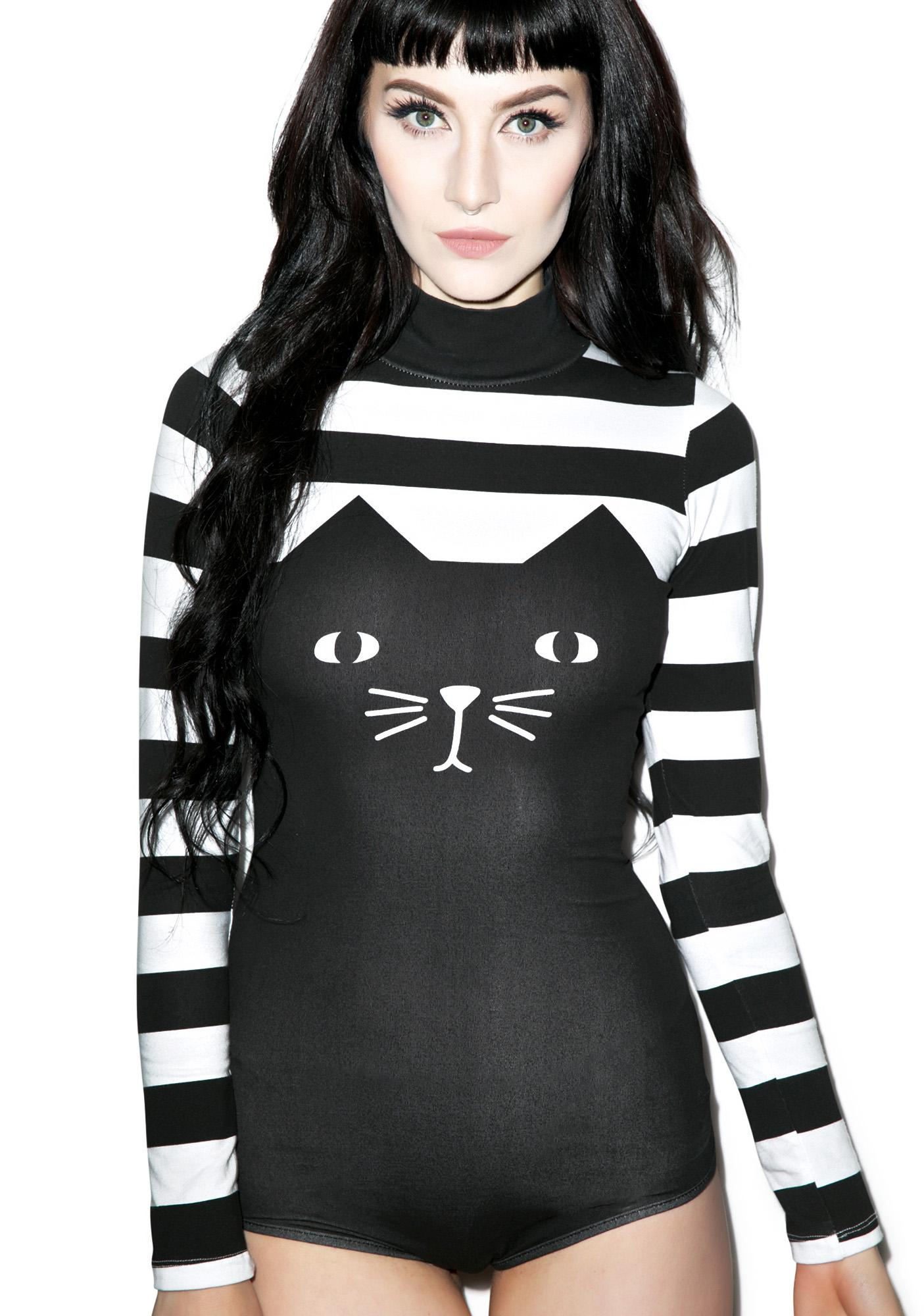 Lazy Oaf Cat Suit Bodysuit