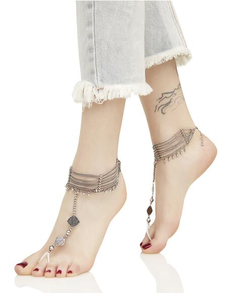 Paradisia Silver Ankle Chains