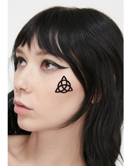 Triquetra Face Stickers