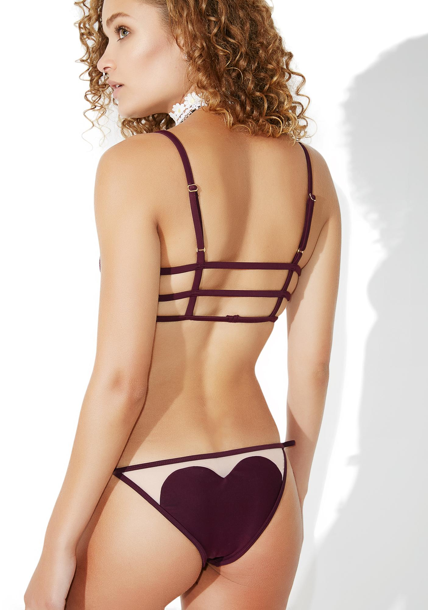 Wildfox Couture Fig Amora String Bikini Bottoms