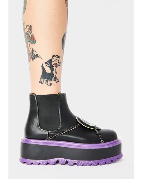 Purple Area 51 Platform Boots