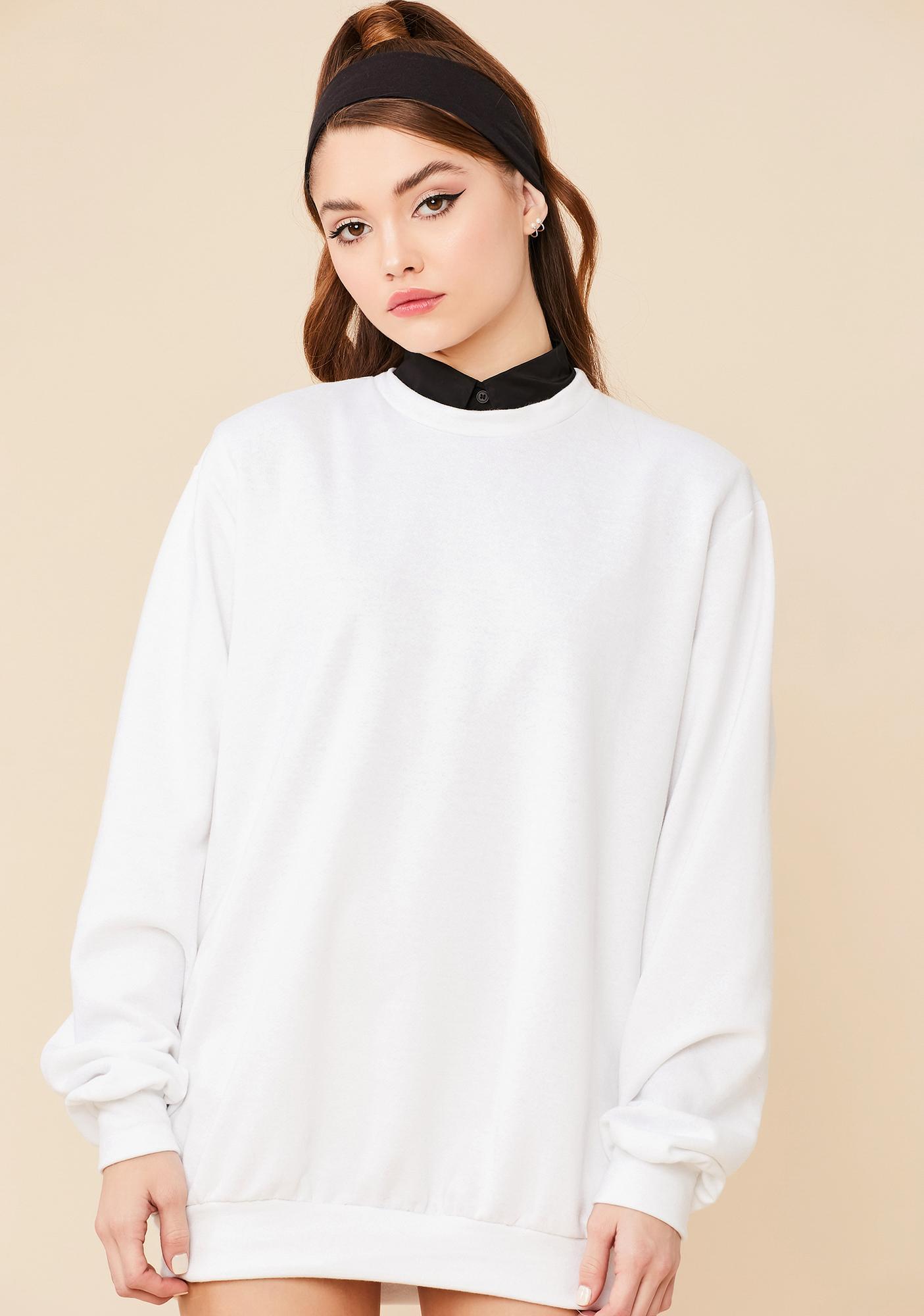 Easy Going Mini Sweatshirt Dress