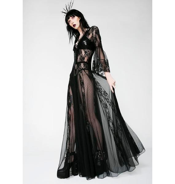 Kiki Riki Dark Modern Love Maxi Dress