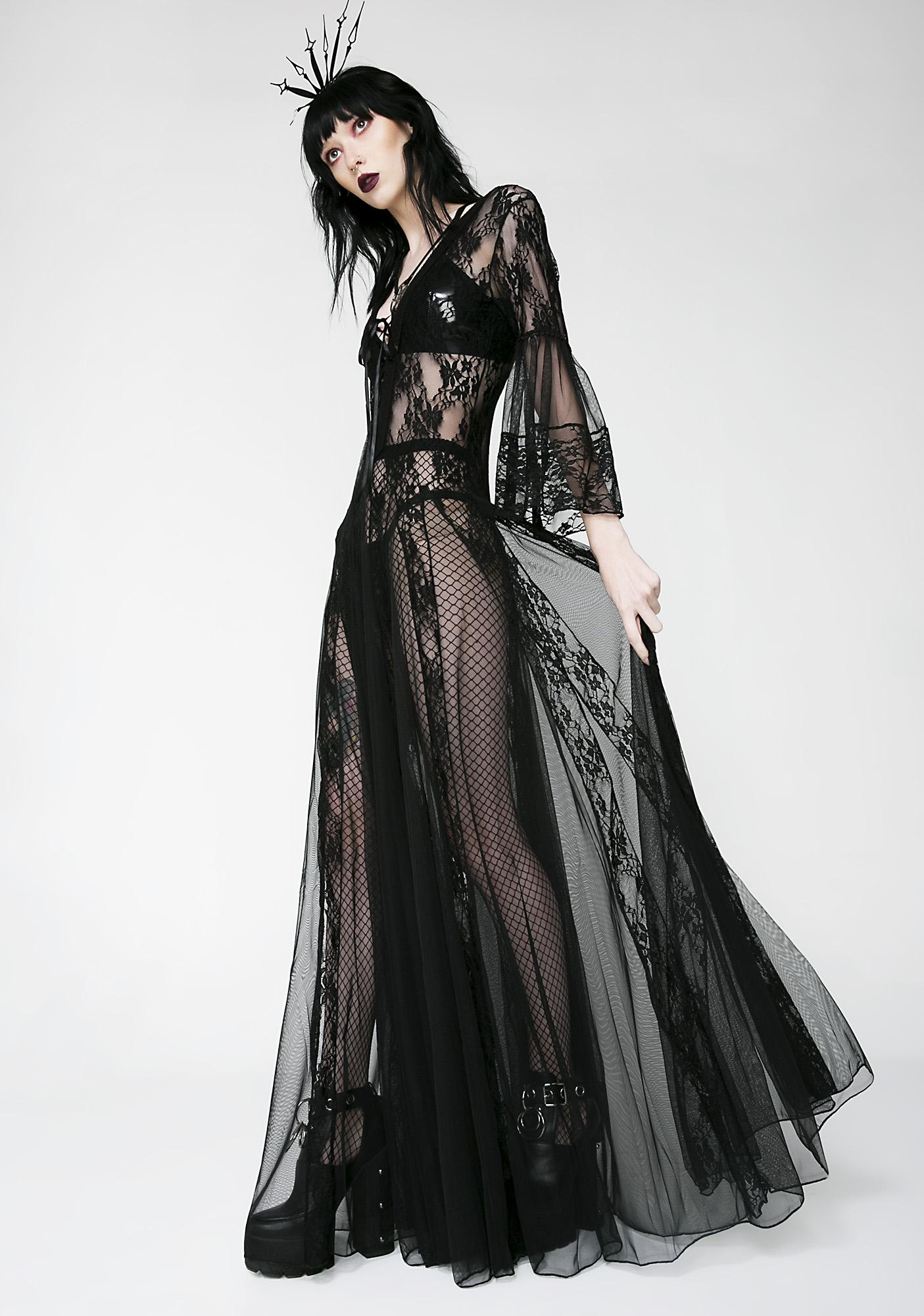 Lace Long Sleeve Maxi Dress | Dolls Kill