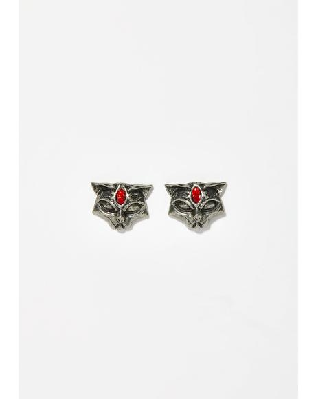 Sacred Cat Stud Earrings