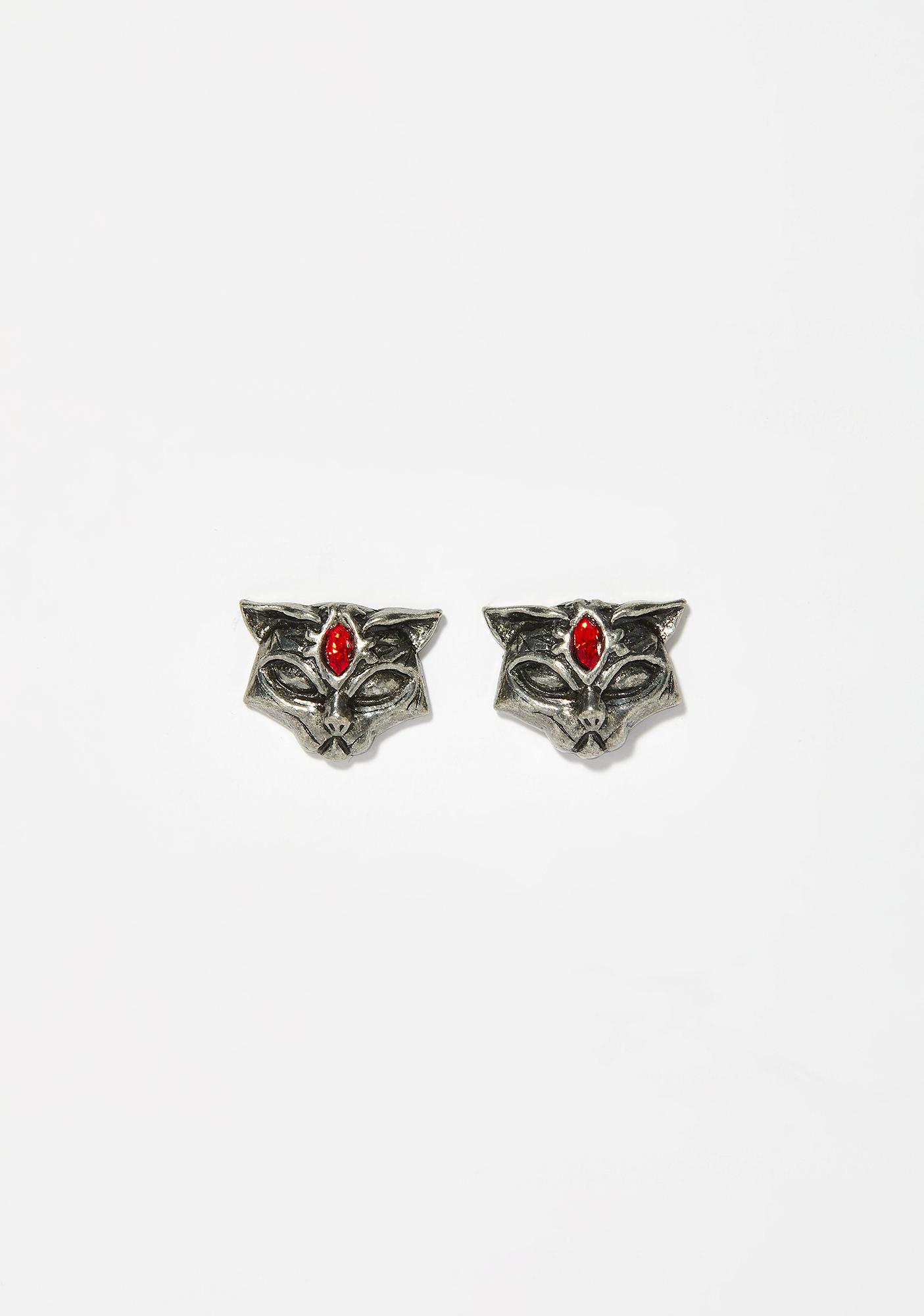 Alchemy England Sacred Cat Stud Earrings